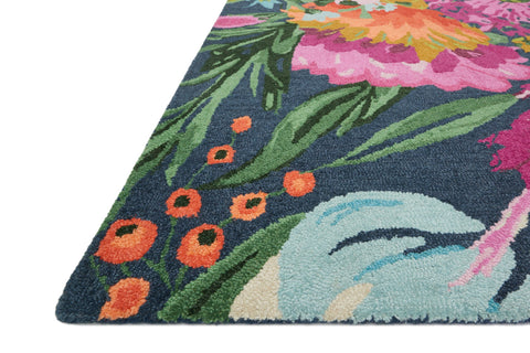 Wild Bloom Rug in Midnight & Plum by Loloi