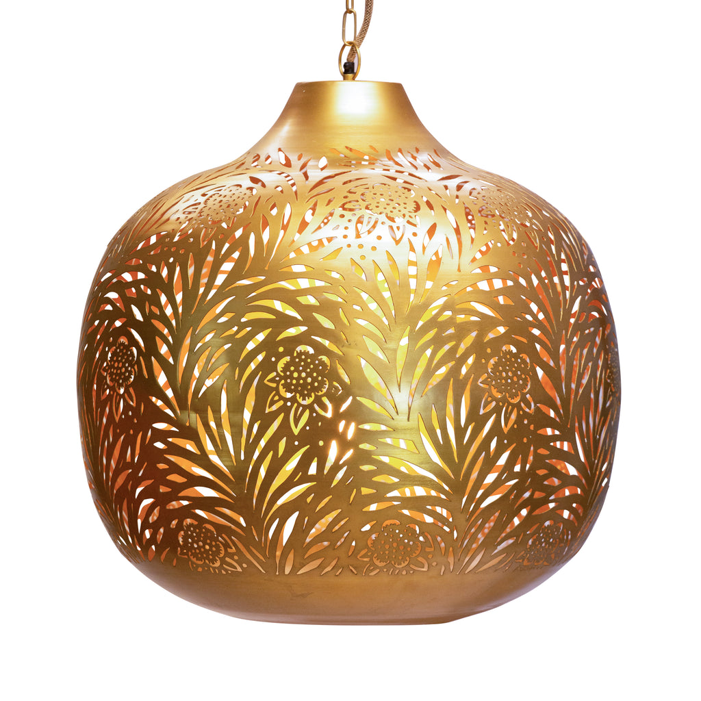 Marigold Brass Chandelier by Morris & Co. for Selamat