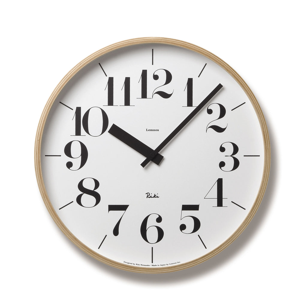 Riki Large Clock design by Lemnos