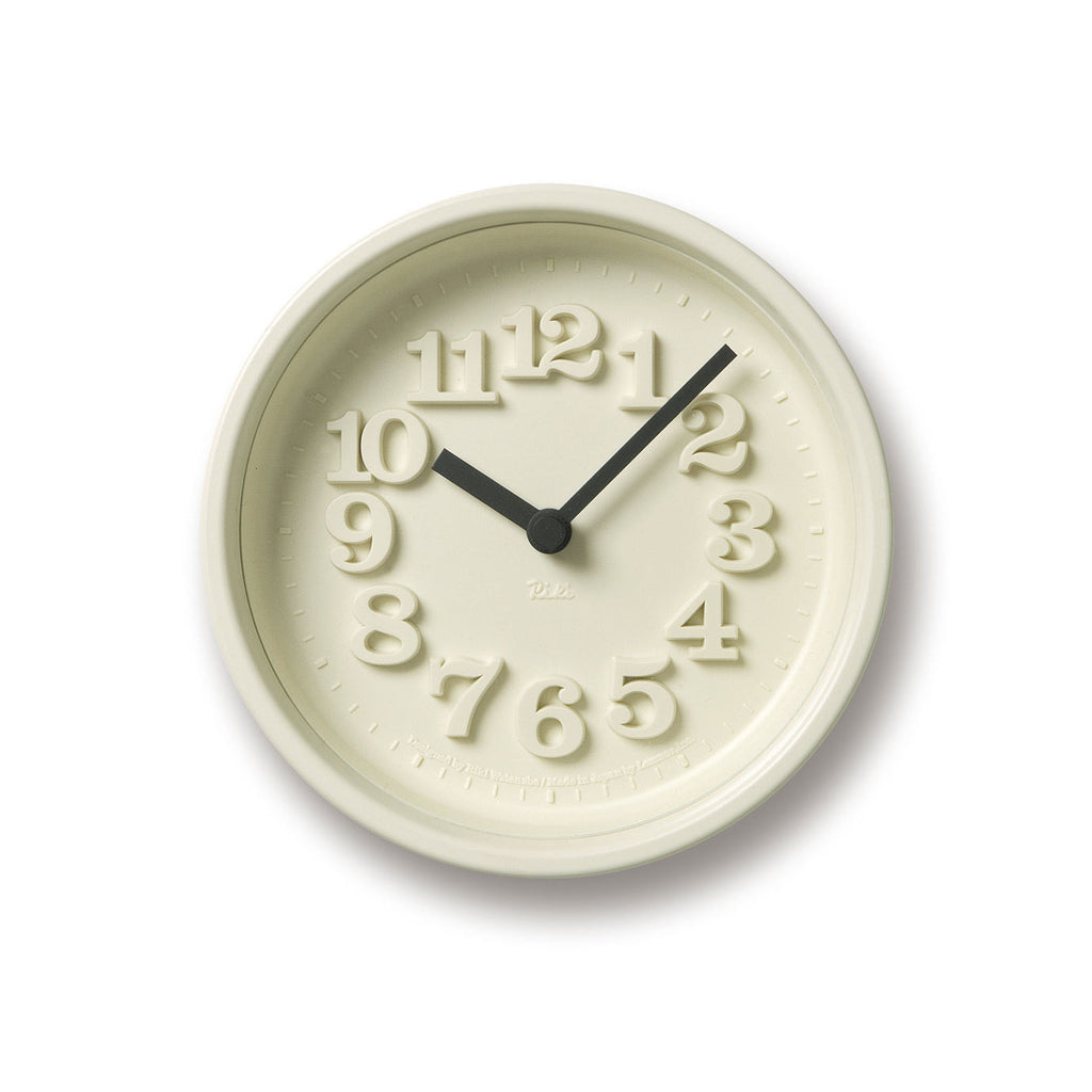 Chiisana Clock in White design by Lemnos
