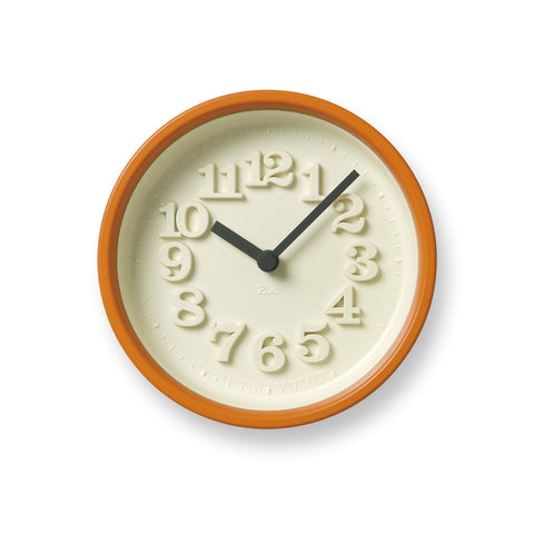 Chiisana Clock in Orange design by Lemnos