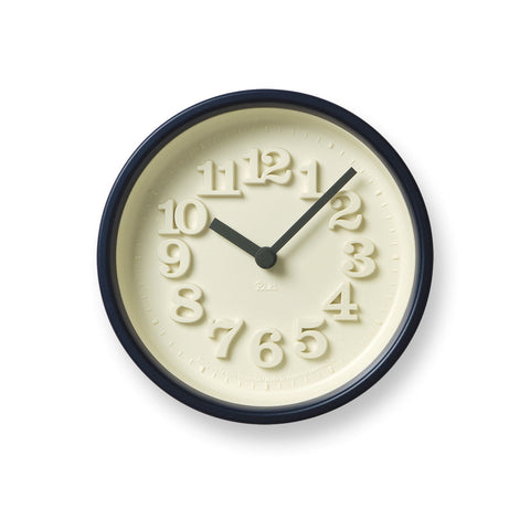 Chiisana Clock in Dark Blue design by Lemnos