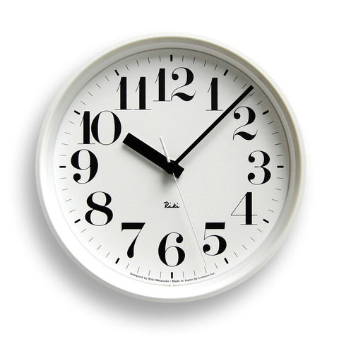 Riki Steel Hours Clock in White design by Lemnos