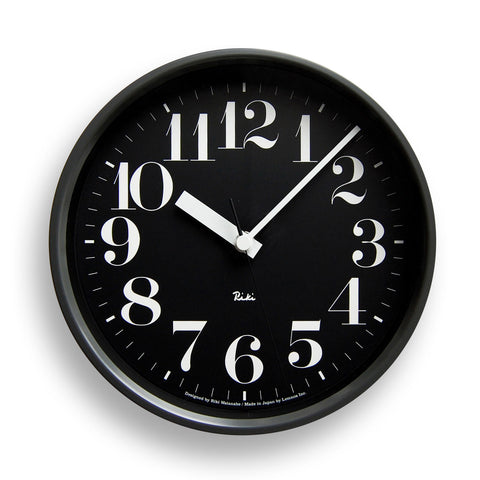 Riki Steel Hours Clock in Black design by Lemnos