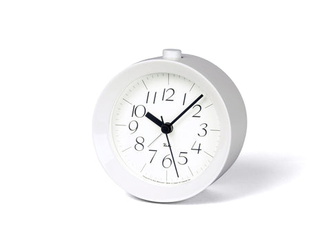 Riki Alarm Paint Clock in White design by Lemnos