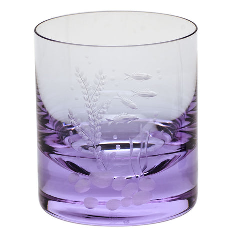 Ocean Life Color Whisky Double Old Fashioned Glass in Various Colors