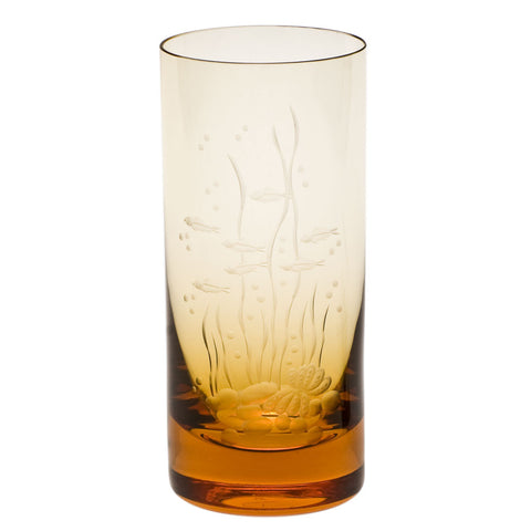 Ocean Life Color Whisky Hiball Glass in Various Colors design by Moser