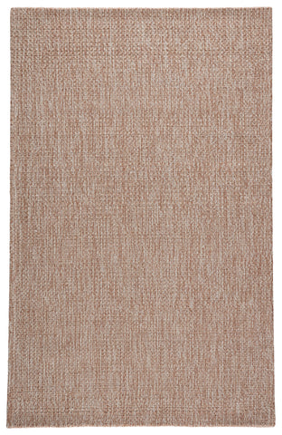 Jardin Indoor/ Outdoor Solid Tan/ White Rug by Jaipur Living