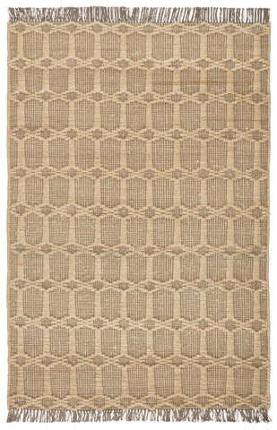 Thierry Natural Trellis Dark Taupe/ Gray Rug by Jaipur Living