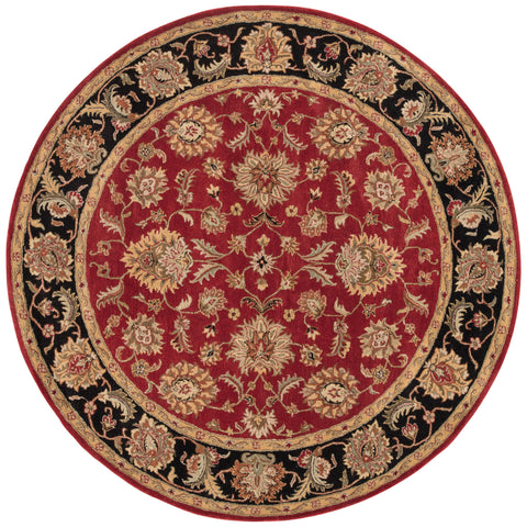 Anthea Handmade Floral Red/ Black Area Rug by Jaipur Living