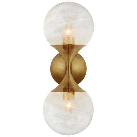 Cristol Small Double Sconce by AERIN