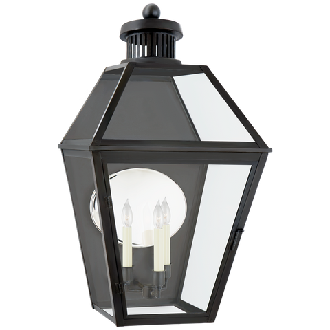Stratford Large 3/4 Wall Lantern by Chapman & Myers