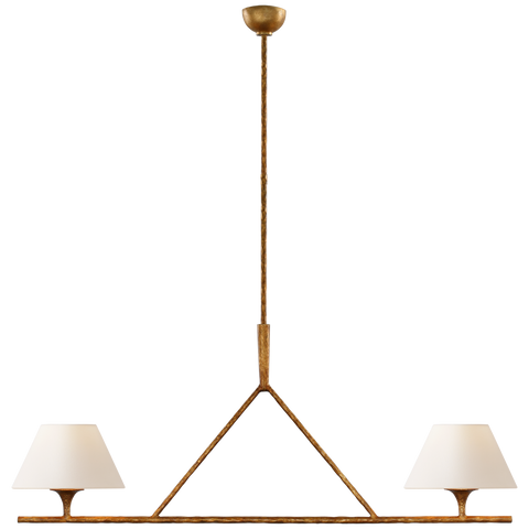 Cesta Large Linear Chandelier by Ian K. Fowler