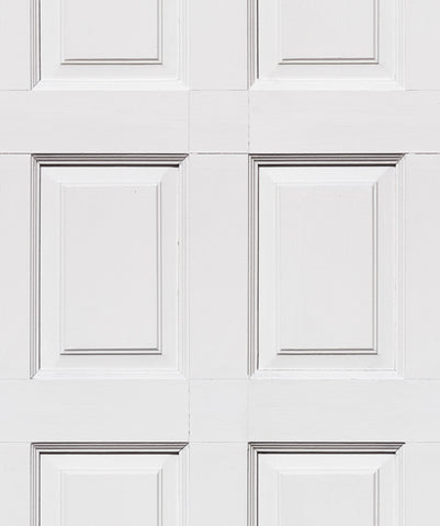 Wainscoting Wallpaper in White from the Kemra Collection by Milton & King