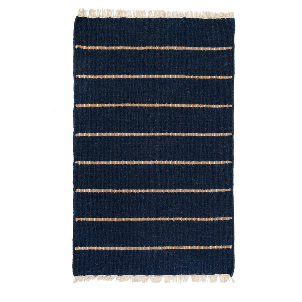Warby Handwoven Rug in Navy in multiple sizes