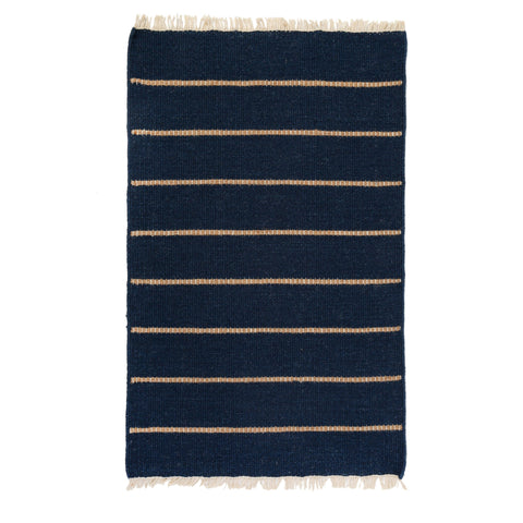 Warby Handwoven Rug in Navy in multiple sizes by Pom Pom at Home
