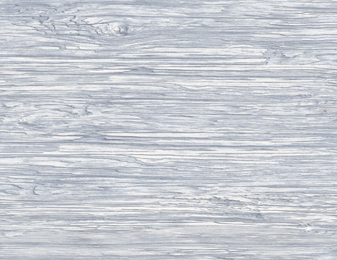 Washed Shiplap Embossed Vinyl Wallpaper in Blue Mist from the Luxe Retreat Collection by Seabrook Wallcoverings