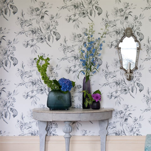 Watelet Wallpaper in Black and White from the Edit Vol. 1 Collection by Designers Guild