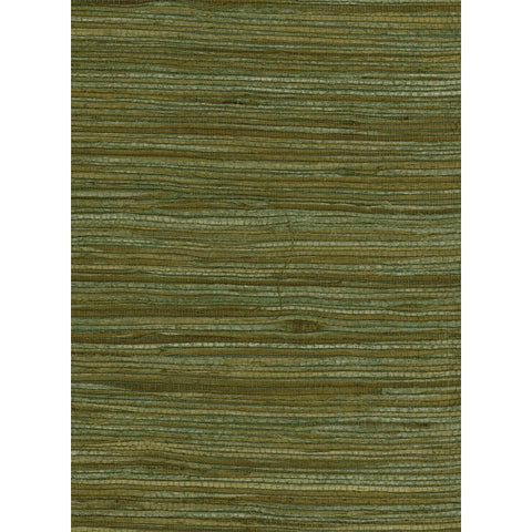 Water Hyacinth Grasscloth Wallpaper in Greens and Tan from the Natural Resource Collection by Seabrook Wallcoverings