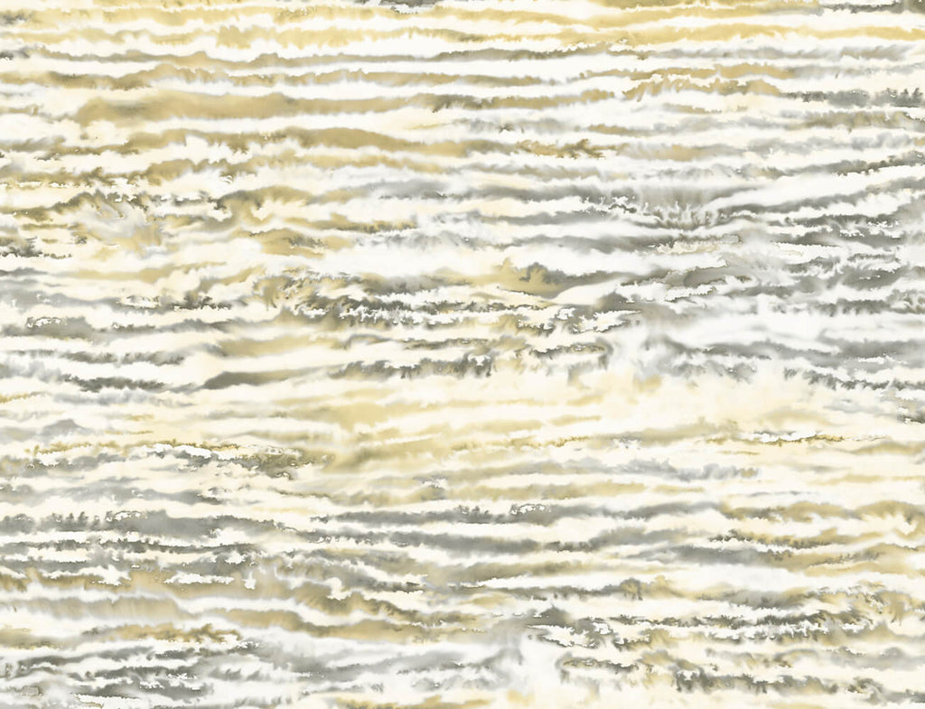 Sample Watercolor Waves Wallpaper in Golden Dusk from the Living With Art Collection by Seabrook Wallcoverings