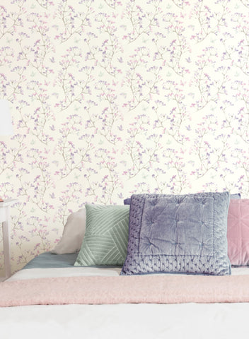 Watercolor Branch Wallpaper from the A Perfect World Collection by York Wallcoverings