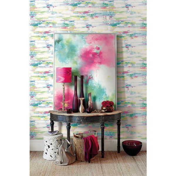Watercolor Brushstrokes Wallpaper from the L'Atelier de Paris collection by Seabrook