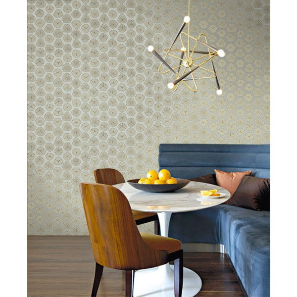 Watercolor Circles Wallpaper In Brown And Grey From The L