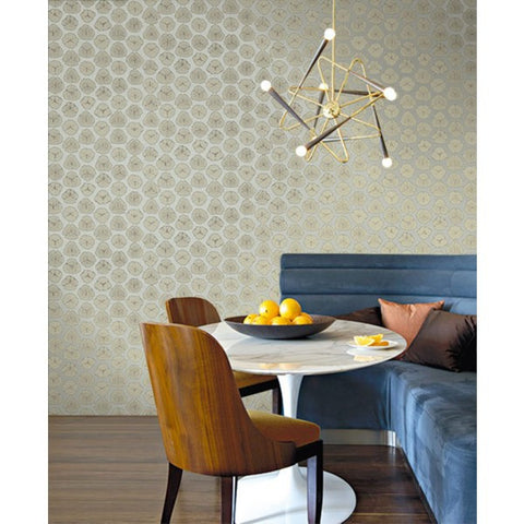 Watercolor Circles Wallpaper from the L'Atelier de Paris collection by Seabrook