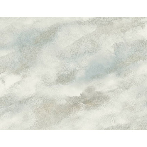 Watercolor Clouds Wallpaper in Neutrals from the L'Atelier de Paris collection by Seabrook