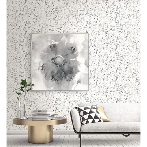 Watercolor Splatter Wallpaper in Greys from the L'Atelier de Paris collection by Seabrook