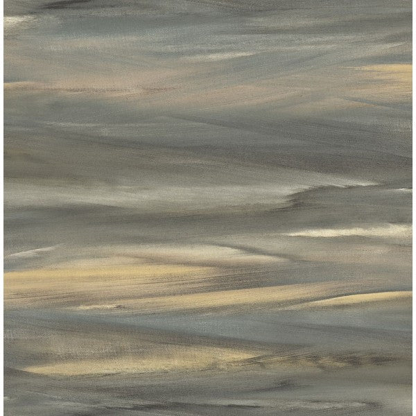 Sample Watercolor Strokes Wallpaper in Browns and Greys from the L'Atelier de Paris collection by Seabrook
