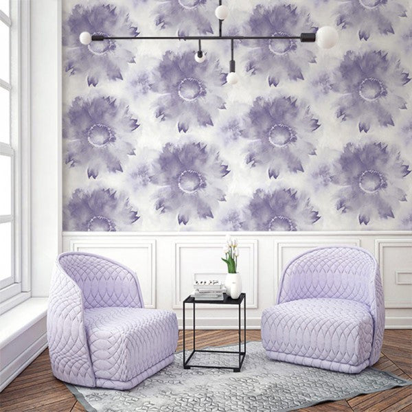 Watercolor Sunflower Wallpaper from the L'Atelier de Paris collection by Seabrook