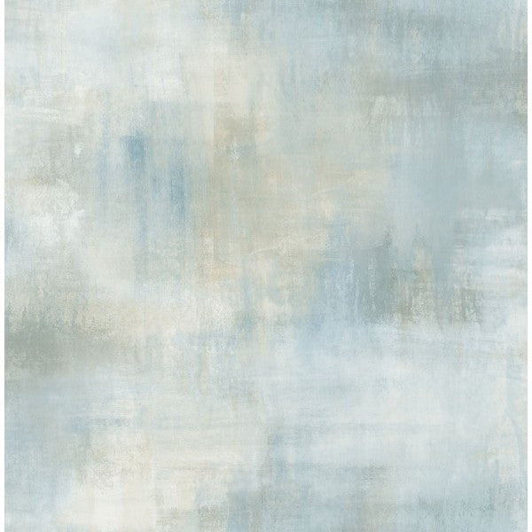 Watercolor Tonal Wallpaper In Blue And Grey From The L