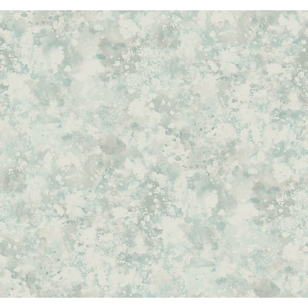 Waterdrop Floral Wallpaper in Blue and Grey from the French Impressionist Collection by Seabrook Wallcoverings