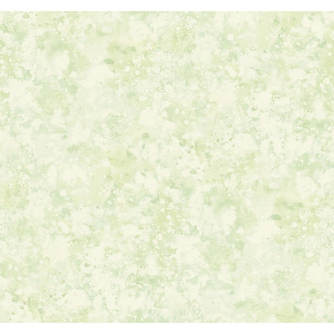 Waterdrop Floral Wallpaper in Green from the French Impressionist Collection by Seabrook Wallcoverings