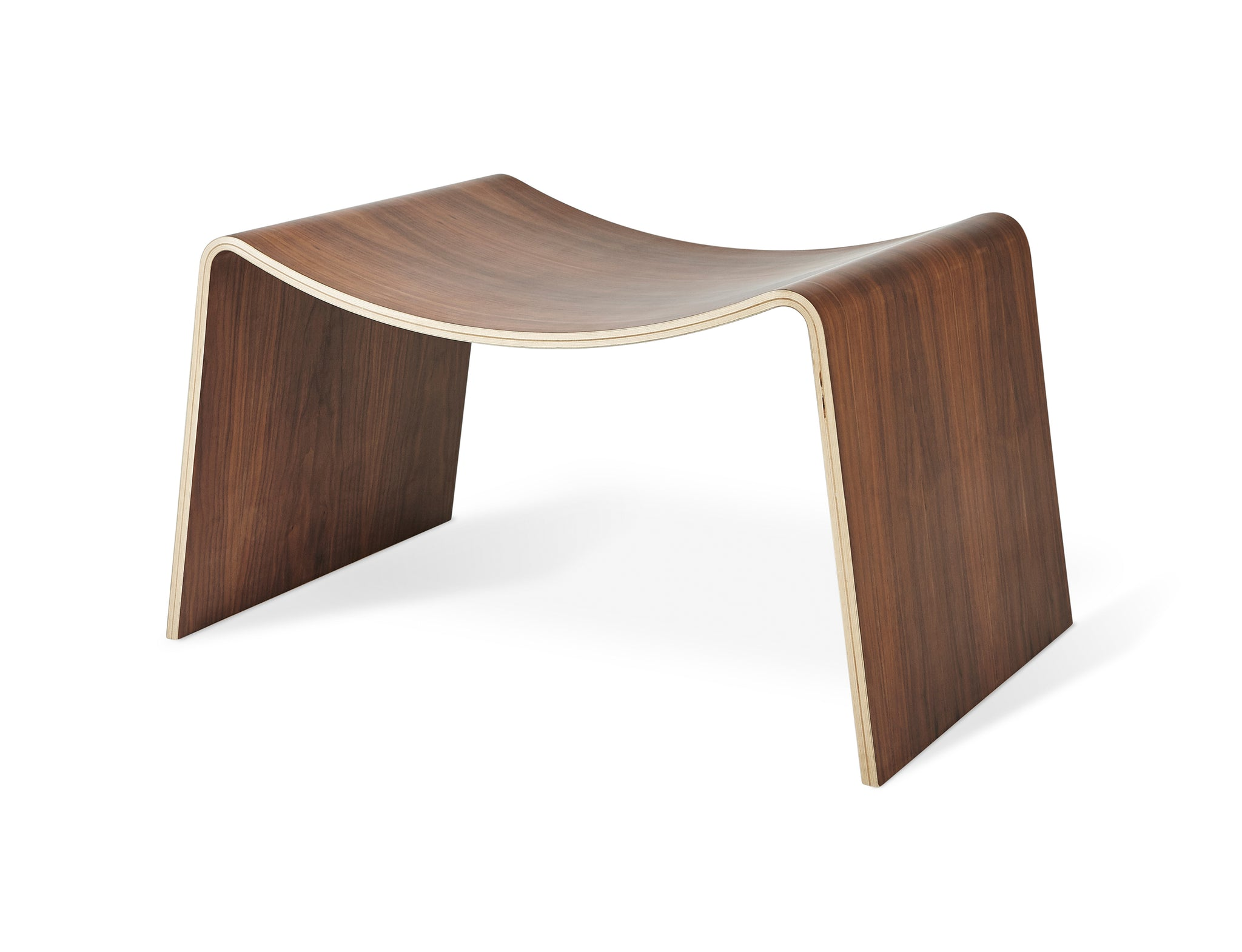 Wave Stool in Walnut design by Gus Modern – BURKE DECOR