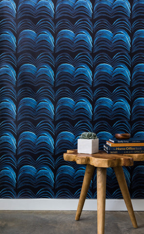 Wavelength Wallpaper in Sweet Dreams by Anna Redmond for Abnormals Anonymous