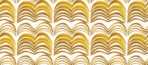 Wavelength Wallpaper in Golden Delicious by Anna Redmond for Abnormals Anonymous