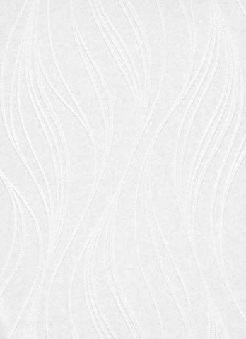 Wavy Paintable Wallpaper in White design by BD Wall