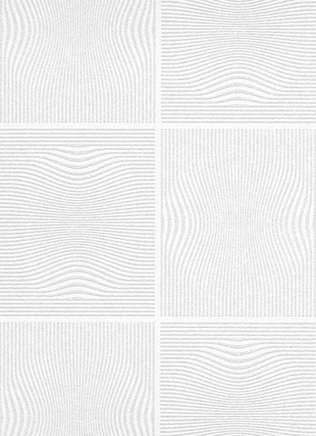 Wavy Stripes 4 Paintable Wallpaper in White design by BD Wall