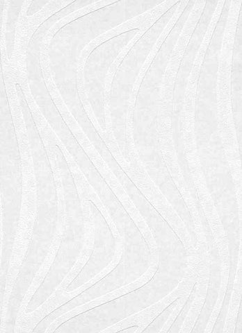Wavy Stripes Paintable Wallpaper in White design by BD Wall