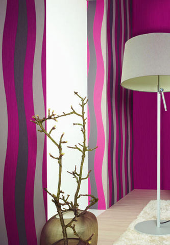 Wavy Stripes Wallpaper design by BD Wall