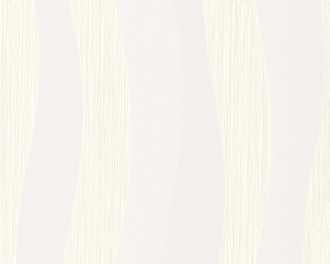 Wavy Stripes Wallpaper in Ivory design by BD Wall