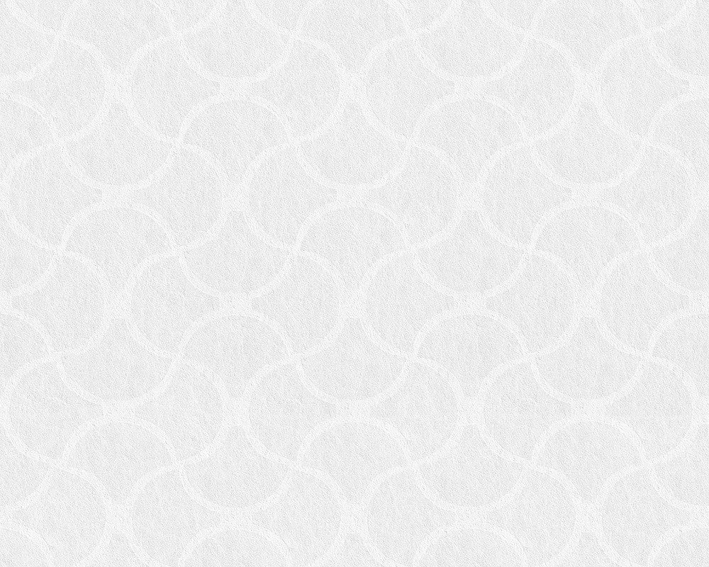 Wavy Trellis Wallpaper in White design by BD Wall