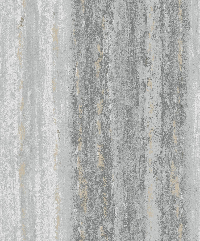 Sample Weathered Abstract Stripes Wallpaper in Charcoal by Walls Republic