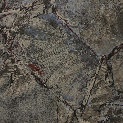 Weathered Stone Effect Wallpaper in Charcoal from the Precious Elements Collection by Burke Decor