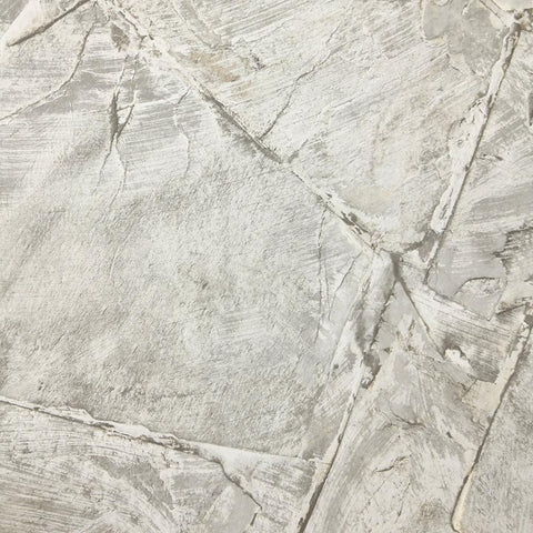 Weathered Stone Effect Wallpaper in Grey from the Precious Elements Collection by Burke Decor