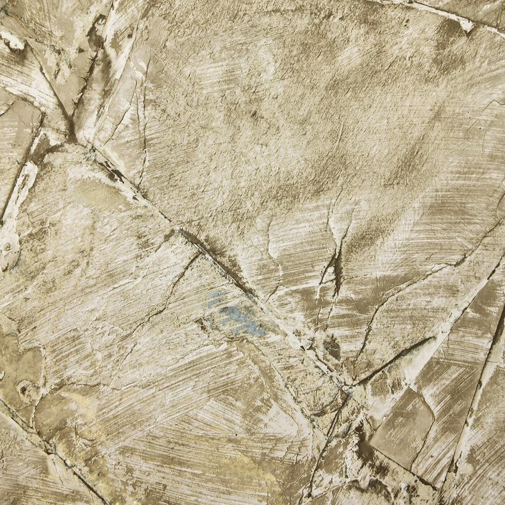 Sample Weathered Stone Effect Wallpaper in Old Gold from the Precious Elements Collection by Burke Decor