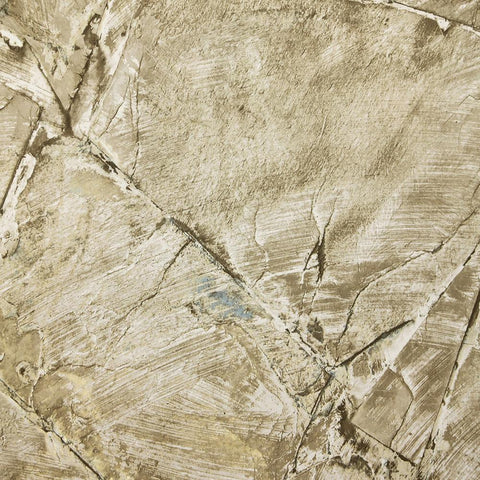 Weathered Stone Effect Wallpaper in Old Gold from the Precious Elements Collection by Burke Decor