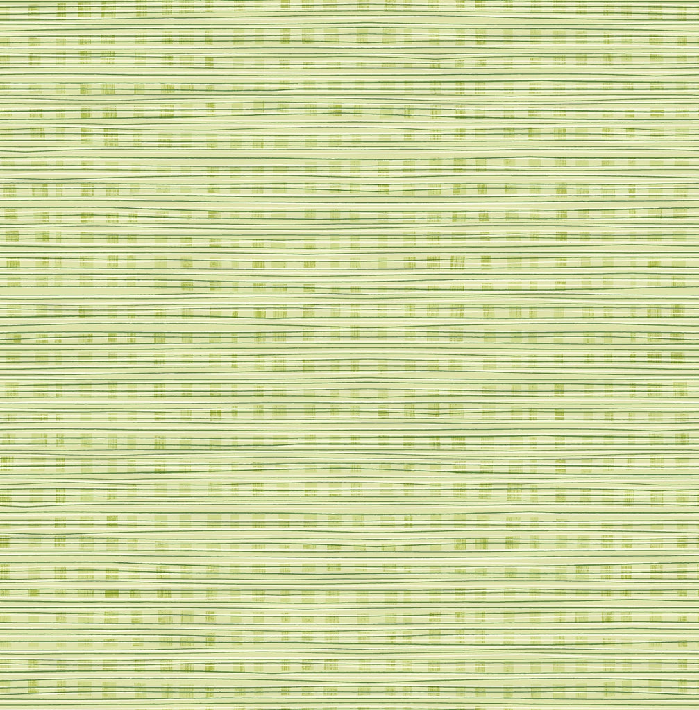Weave Wallpaper in Green Apple from the Day Dreamers Collection by Seabrook Wallcoverings